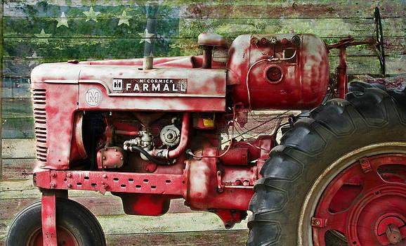 Patriotic Farmall by Lisa Moore