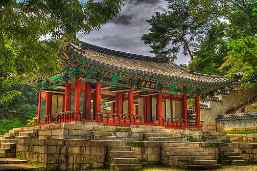Pavillon at Gyeongbokgung Palace South Korea by Gabor Pozsgai