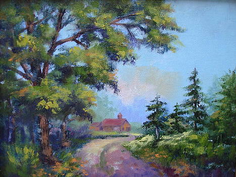 Peaceful Country Road by Holly LaDue Ulrich