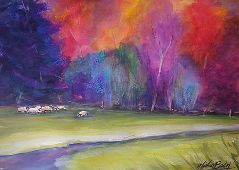 Peaceful Pastoral Sheep by Therese Fowler-Bailey
