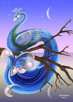 Peacock Moon by Devaron Jeffery