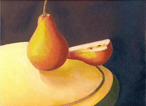Pear and half by Selma Suliaman