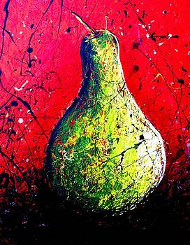 Pear In Red by Artist Singh