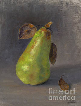 Pear with Leaves by Christa Eppinghaus