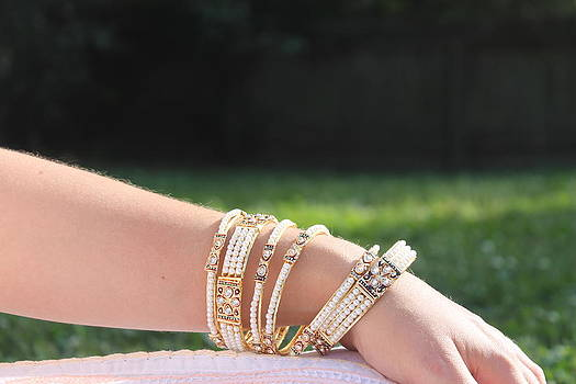 Pearl of India Bangles by Courtney Hancock