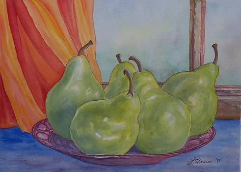 Pears at the Window by Laurel Thomson