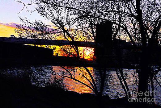 Peeking At The Bridge by Kendall Eutemey