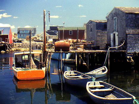 Peggys Cove Nova Scotia 1972 by Bruce Ritchie