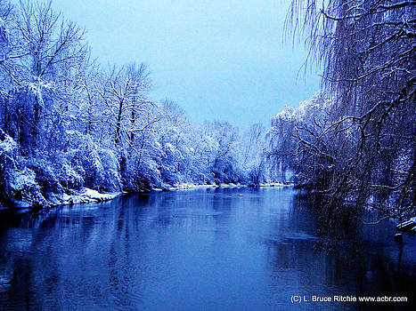 Perch Creek in Winter Sapphire Hour by Bruce Ritchie