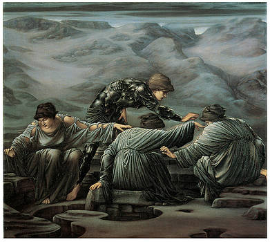 Edward Burne-Jones - Perseus and the Graiae