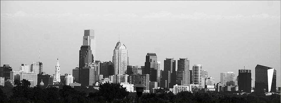 Philadelphia Black And white by Janet G T