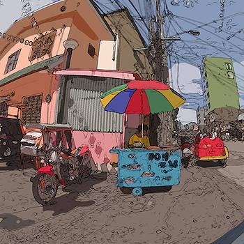 Philippines 1183 Street Vendor by Rolf Bertram