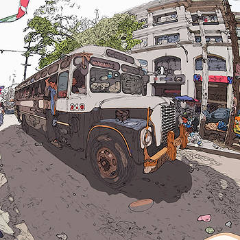 Philippines 1268 Antique Bus by Rolf Bertram
