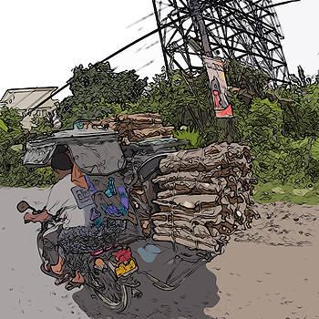 Philippines 2797 Firewood Transportation by Rolf Bertram