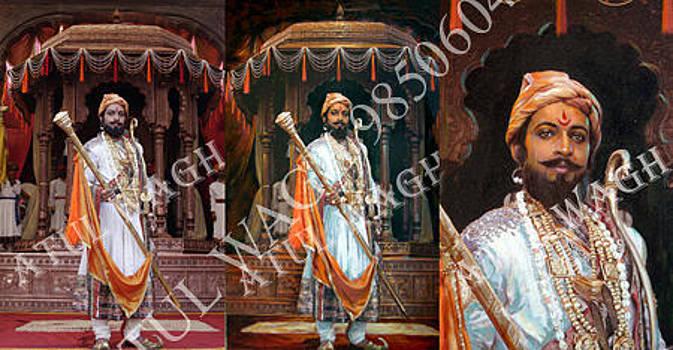 Photo Canvas Painting of Shivaji by Atul Wagh