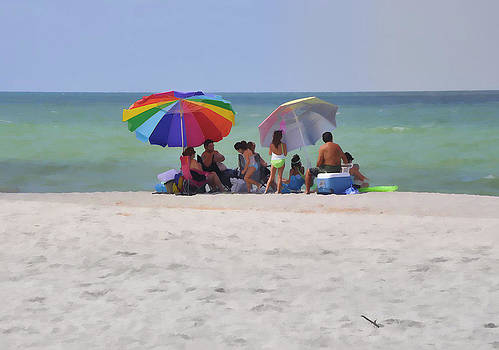 Picnic on the Gulf by Sandy Poore