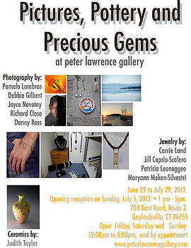 Pictures Pottery and Precious Gems Flyer by Peter Lawrence Gallery