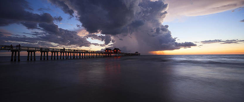 Pier Summer Showers by Nick  Shirghio
