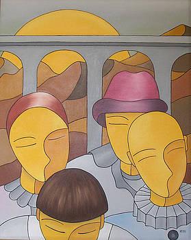 Pierrot et Colombine by Sonia BOYER