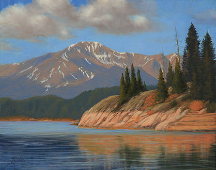 Pikes Peak - Ripples and Reflections 120425-1114 by Kenneth Shanika