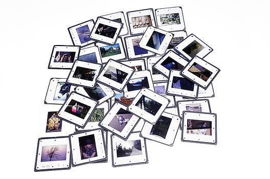 Pile of color slides by Matthias Hauser