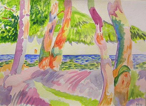 Pine forest at Cavaliere after Henri Manguin by Nicholas Vermes