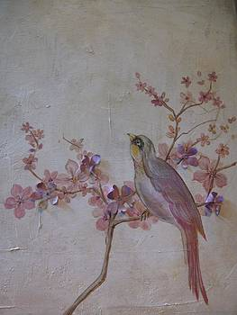 Pink Bird by Marianne  DuQuette