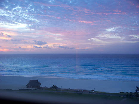 Pink Cancun Sunset by Valerie Longo