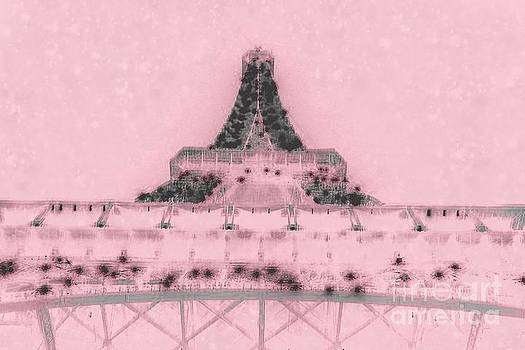 Pink Eiffel Tower by Becky Dolley