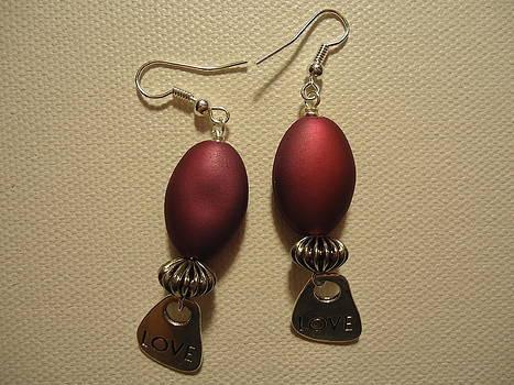 Pink Love Earrings by Jenna Green