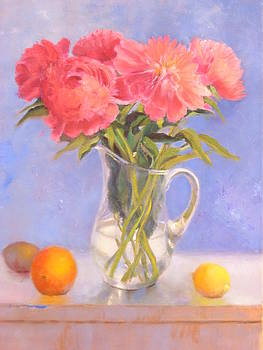Pink Peonies by Claudia Browne