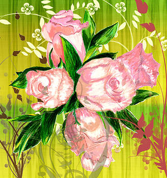 Pink Rose Bouquet by Barbara Giordano