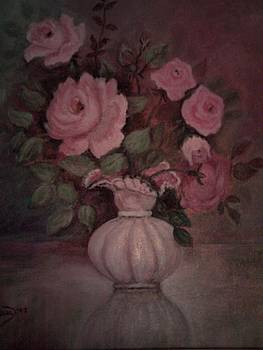 Pink roses by Norma Ferreira