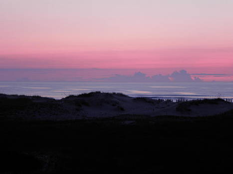 Pink Sunrise Beyond Dunes by Kim Galluzzo Wozniak