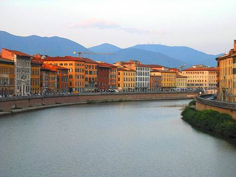 Pisa Italy by the river by Winston Moran