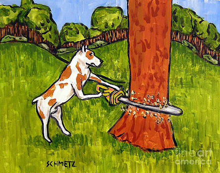 Pit Bull Terrier Lumber Jack by Jay  Schmetz