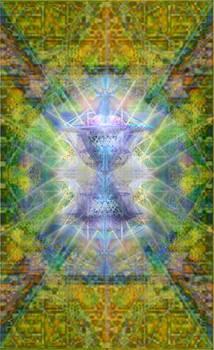 PiVortexSpheres Lt on ChaliCell Garden Tapestry IV by Christopher Pringer