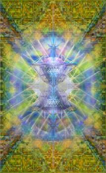 PiVortexSpheres on ChaliCell Garden Tapestry V by Christopher Pringer
