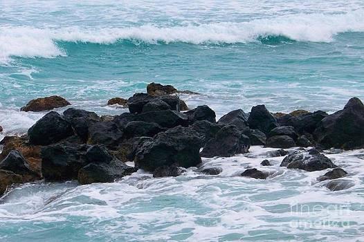 Plage Des Roches Noires - Beach - Ile De La Reunion by Francoise Leandre