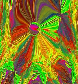 Plasma Flower 2 by Lynda K Cole-Smith