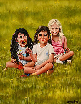 Playtime In The Field by Carmen Del Valle