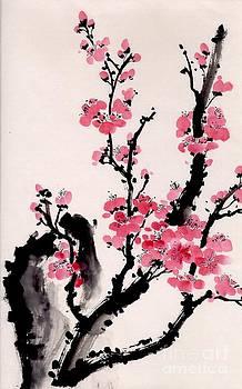 Plum Blossoms IV by Yolanda Koh