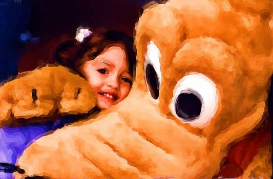 Carmen Del Valle - Pluto Hugs Painting
