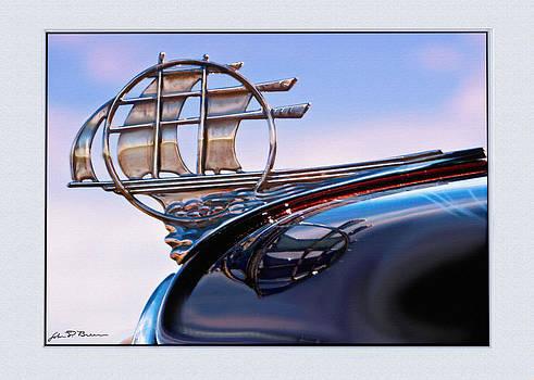 Plymouth sailboat hood ornament by John Breen