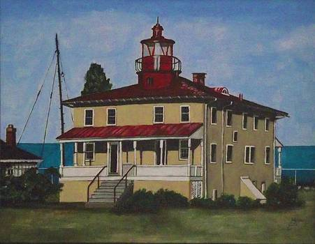 Point Lookout Lighthouse MD by Kim Selig