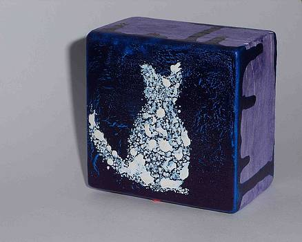 Pointilistic Cat by AJ Brown