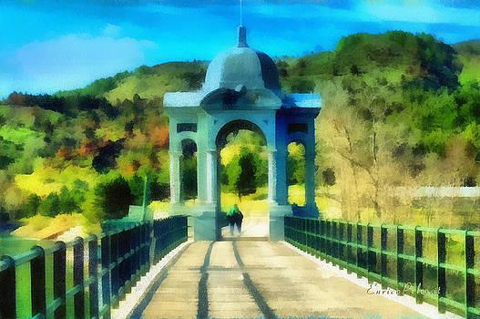 Enrico Pelos - Ponte sul lago di Giacopiane