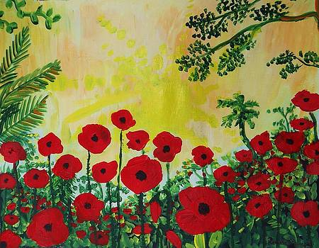 Poppies at Noon by Renate Pampel