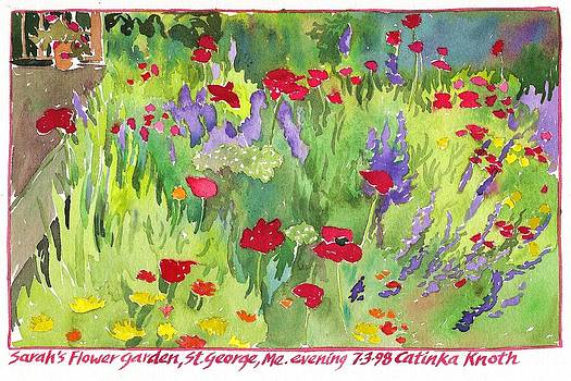 Poppy Flower Garden Saint George Peninsula Maine by Catinka Knoth