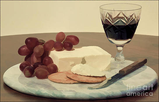 Port Cheese and Grapes by George Hodlin